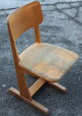 AMA Child's School Chair Children's Wooden Leap Vintage Stable 50s