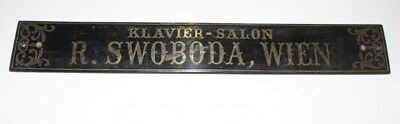 Original Shield klavierbauer Piano klavier-salon R Swoboda Vienna Brass