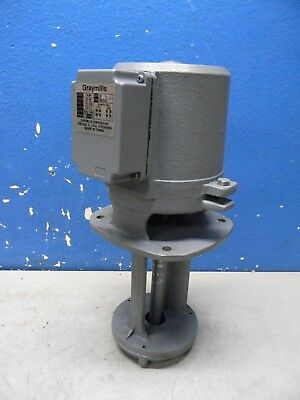 Graymills Cast Iron Immersion Coolant Pump 1/4 HP 115/230V IMV25-E REPAIR