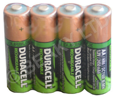 Genuine Duracell AA Rechargeable Battery 2450 mAh [Shrinked 4-pack]