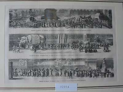 92914-Asien-Asia-Japan-Nippon-Nihon-Sannoo Matsouri-T Holzstich-Wood engraving