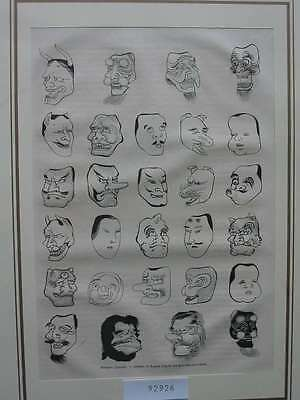 92926-Asien-Asia-Japan-Nippon-Nihon-Masques Masken-T Holzstich-Wood engraving