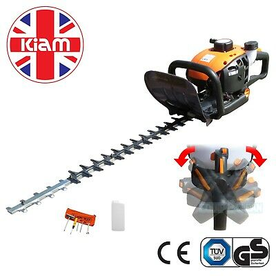 Kiam H60 22.5cc Petrol Hedge Trimmer Garden Cutter 600mm Double Sided Blade