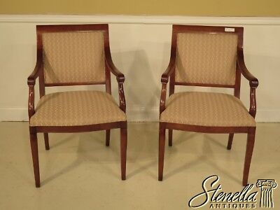 40657E:  Pair of SOUTHWOOD Regency Style Upholstered Open Arm Chairs