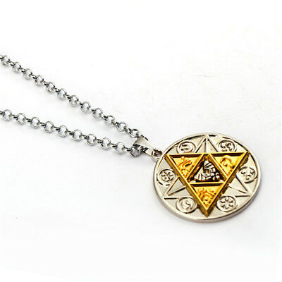 Funny Play The Legend of Zelda Necklace Courage Power Wisdom Link Round Pendant