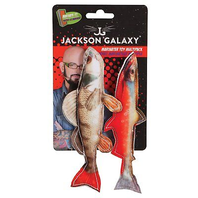 Petmate Jackson Galaxy Marinater Multipack Fish Toys for Cats