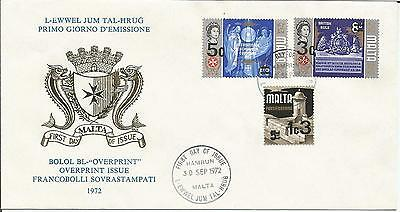 Malta  1972 Hamrun  Overprint Issue  Fortifications British Rule Congress  Cover