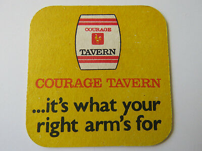 """FOOTSCRAY FOOTBALL CLUB /""""1974 issue/"""" BEER COASTER 1 only COURAGE Brewery"""