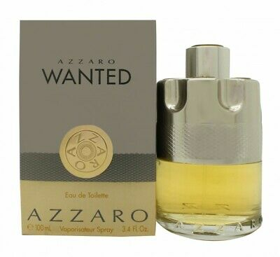Azzaro Wanted Eau De Toilette Edt 100Ml Spray - Men's For Him. New