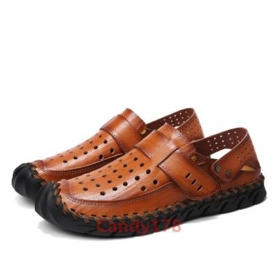 New Style Summer Mens Sandal Shoes Hollow Out Pull On Casual Date Soft Fashion