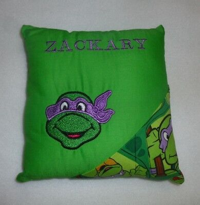 """Embroidered Turtles TOOTH FAIRY PILLOW already personalized with """"ZACKARY"""" New"""