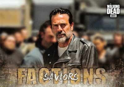 Walking Dead Road To Alexandria FACTIONS Insert Card F-10 / SAVIORS