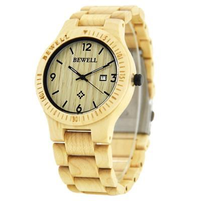 Men Women Wood Watches Analog Quartz Lightweight Handmade Wood Wrist Watch D