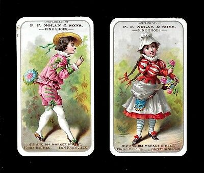 Beautifully Dressed Youths W/Flowers-Lot 2 Victorian Trade Cards-SALE