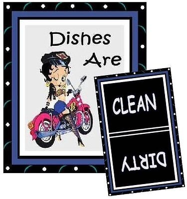 BETTY BOOP #3  DISHWASHER MAGNET (Clean/Dirty) - Ship Free!