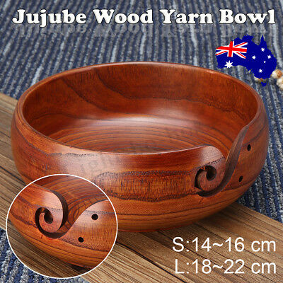 Yarn Bowl Holder Handcrafted Gift Wooden For Yarn Skeins Knitting Crochet Home