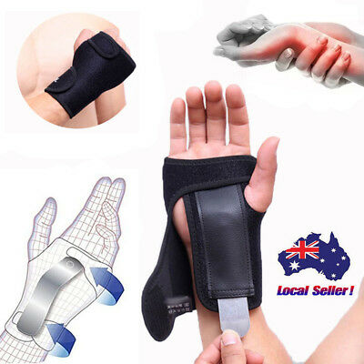 Wrist Splint Brace Metal Steel Support Strap Carpal Tunnel CTS RSI Pain Relief A