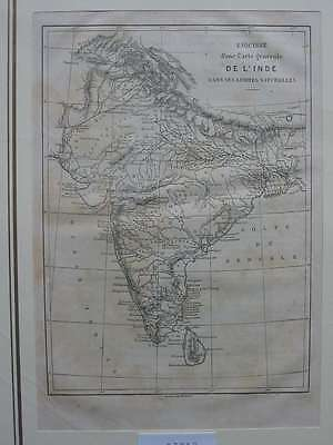 93012-Asien-Asia-Indien-India-Karte Map-T Holzstich-Wood engraving
