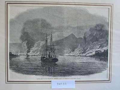 94131-Asien-Asia-China-Chinese Fleet Pinghoy War-T Holzstich-Wood engraving