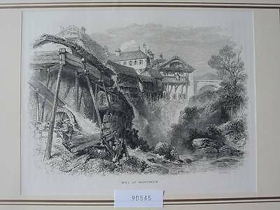 90545-Schweiz-Swiss-Switzerland-Montreux-Mühle Mill-T Holzstich-Woodengraving