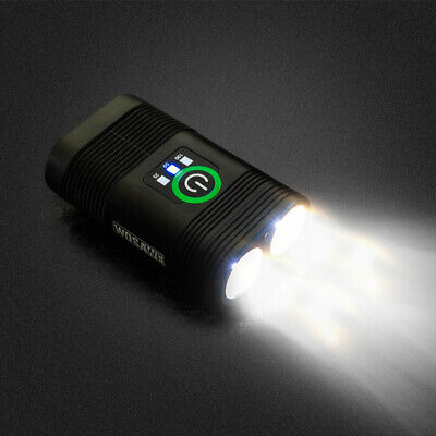 2400LM Double LED Rechargeable Bicycle Head Light Bike USB Lamp+Rotating mount