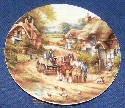 1991 20cm Wedgwood Country Days Early Morning Milk Collectors Plate
