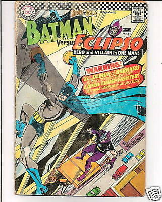 Brave And The Bold  #64  1966   Dc  Batman -Vs- Eclips...gd+/gd