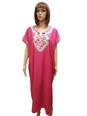 MOROCCAN Women BEACH SUMMER Cotton Dress Kaftan Caftan Arabic Abaya GALABIYA