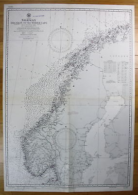 1922 Europe - Norway - The Naze to the North Cape Norwegen map