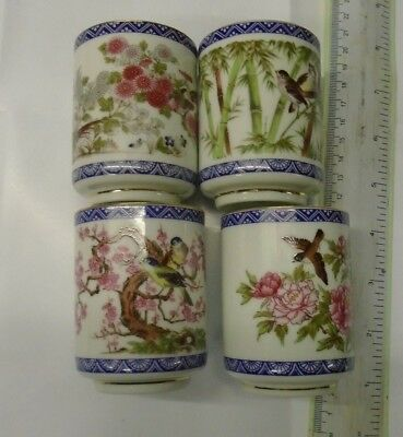 Japanese Ceramic 4 Piece Tea Cup Set.unused Old Shop Stock In Box