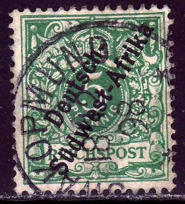 SOUTHWEST AFRICA GERMAN COLONY Mi. #2 used stamp! CV $7.25