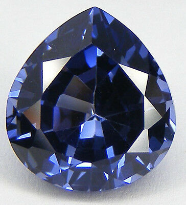 13,10CT. EXCELLENT SAPHIR CEYLAN BLEU CORINDON DE SYNTHESE T. POIRE 14,6x13,5MM.