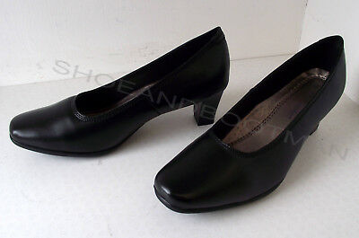 5ee2e42205 Ladies UK Size 6 Black Leather Upper Lining and sock Mid Heel Court Shoes.