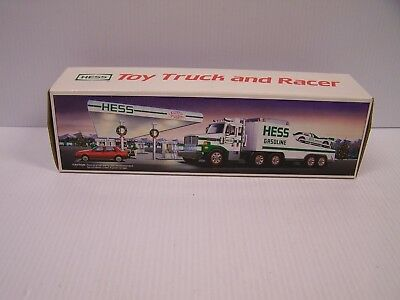 1988 Holiday Hess Toy Truck and Racer  **FREE S&H**