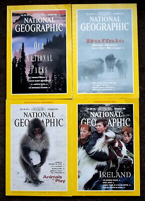 CLEARANCE SALE ** 4 x Nat Geographics- SEP-DEC 1994 ANCIENT GREEKS CRIMEA JAPAN