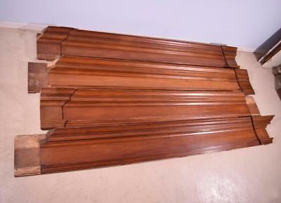 40 Linear Feet of Antique Solid Oak Wood Crown Moulding (Molding)/Trim