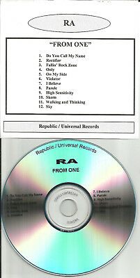 RA from One  ULTRA RARE DIFFERENT PACKAGING TST PRESS PROMO DJ CD 2002 USA