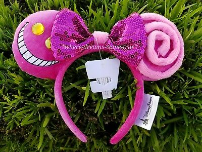 Disney Parks Cheshire Cat Alice in Wonderland  Minnie Mouse Ears Headband NEW