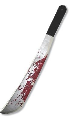 Jason Voorhees Friday the 13th Plastic Bloody Machete Knife Prop Halloween