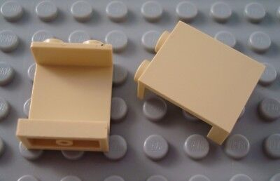 LEGO Lot of 2 Tan 1x2x2 Wall Panel Pieces