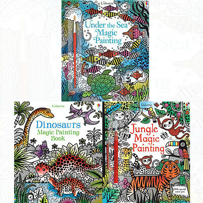 Painting Book Series 1:3 Books Collection Set Jungle Magic Dinosaurs Magic PACK
