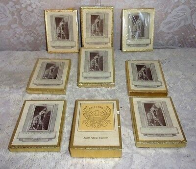 Vintage USA Lot Of Nine Antioch Bookplate Company Bookplates In Original Boxes