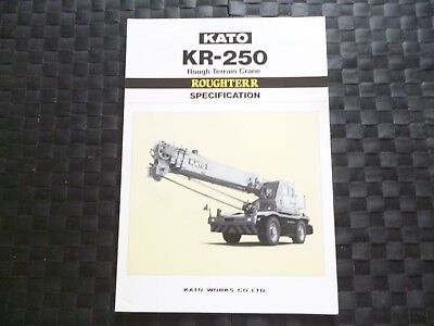 Kato Kr 250 Rough Terrain Crane Specification Leaflet/Brochure *As Pictures*