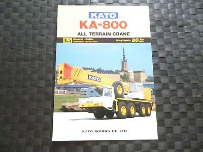 Kato Ka 800 All Terrain Crane Lifting Cap 80 Ton Leaflet/Brochure *As Picture*