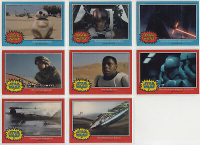 Star Wars Chrome Jedi Vs Sith The Force Awakens Glossy Preview Set 8 Cards Rey