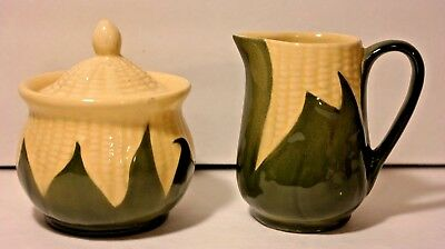 Shawnee Corn King Creamer Cream Pitcher #70 & Sugar Bowl With Lid #78