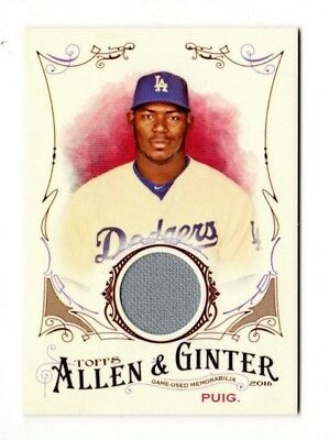 Yasiel Puig  Mlb 2016 Topps Allen And Ginter Relics (Los Angeles Dodgers)