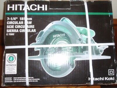 "Hitachi #C7SB2 7-1/4"" 15 Amp Circular Saw with Case-NEW"