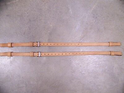Leather Luggage Straps for Luggage Rack Carrier 2 Set Buckskin Color SS Buckles