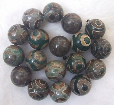 6mm 8mm 10mm 12mm 14mm 16mm 18mm 20mm Green Agate Tianzhu Round Loose Beads 14""